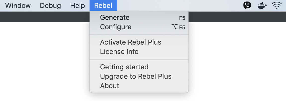 Rebel Menu
